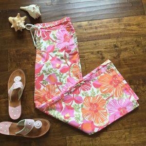 Lilly Pulitzer Linen Beach Pants Palm Beach Fit
